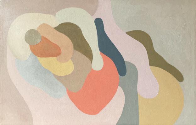"""Johanna Christianson, """"Droop"""", 2018, Oil on Canvas, 14"""" x 22"""""""