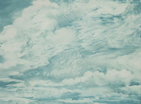 """Philip Govedare, """"Cloud Series 8"""", 2015, Oil on Canvas, 16"""" x19"""" framed"""