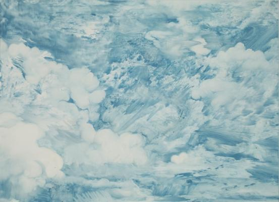 """Philip Mountain, """"Cloud Series 9"""", 2015, Oil on Paper, 18"""" x 22"""""""