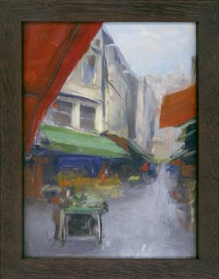 "Kenny Harris, 2015, Oil on panel, 9.5"" x 7.5"" framed"